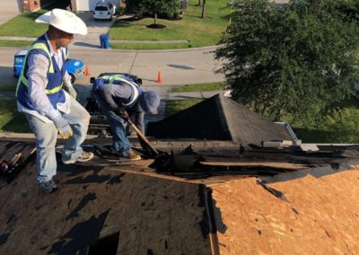 tearing up roofing